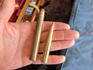 H&H ammo on left, .303 Purdey ammo on right