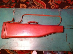 Brauer Bros Leather Leg O'Mutton Shotgun Case