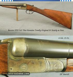 12 gauge Beretta Boxlock Side-by-Side, Made in 1933