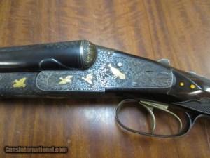 12 gauge Lefever Arms Co. Presentation Grade SxS double barrel shotgun