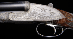 20 gauge E.J. Churchill Premier grade double barrel, side-by-side auction, Kell engraved