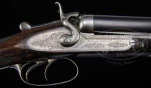 WILLIAM POWELL BAR IN WOOD 20 Gauge Double Barrel Hammer Shotgun
