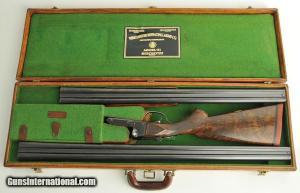 1946 Winchester Model 21 Deluxe Skeet Two-Barrel Set 12ga w/ Factory Letter & Original Case: