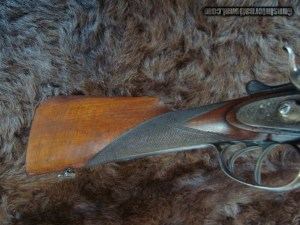 Lovely 16 GA. SXS Belgian hammer shotgun by F. Lancelot & Co. Liege Retailed by P. Varriale, Naples.