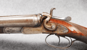 10 gauge Schilling Double Barrel Side by Side Hammer Shotgun