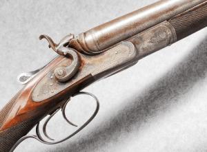 10 gauge Schilling Double Barrel Side by Side Hammer Shotgun