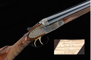 12 gauge Tula MC-11, double barrel, side-by-side Russian Purdey, presented to