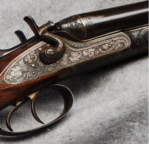16 gauge J.P. Sauer & Sohn hammer shotgun