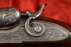 10 gauge Parker Bros. Quality 6 SxS lift-lever shotgun, 2 sets of Damascus steel barrels and case in 10 ga