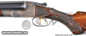 ITHACA GRADE 5 ENGRAVED DOUBLE BARREL 12 GAUGE SHOTGUN