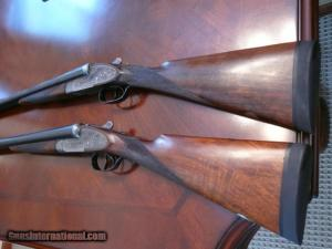 Very nice set of Miroku SxS's, one 20 gauge, one 12 gauge