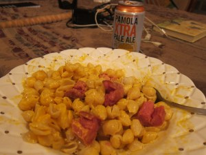 Dinner - Hot dogs, Mac & cheese, Beer...