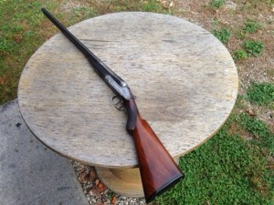 12 gauge Sneider double barrel hammerless shotgun