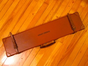 20 gauge Abercrombie & Fitch Leather Side-by-Side Shotgun Case + Original Accessories