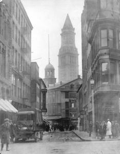 Elm Street, Scollay Sq, Boston, 1920.