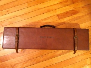 Leather Von Lengerke & Detmold Deluxe Leather Side-by-Side Shotgun Case