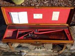 12 gauge James Purdey & Son Bar-in-Wood Double Barrel Hammer Shotgun