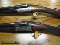 Matched Pair Westley Richards Droplocks w/hinged floor plate - 12 ga
