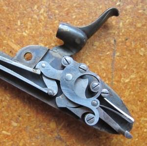 "Locks off a William Powell & Son ""Best"" quality hammergun from 1869"