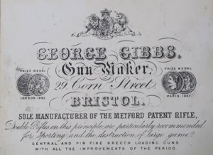 George Gibbs, Gun Maker, Trade Label