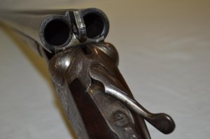 16 gauge A.H. Fox A grade double barrel shotgun