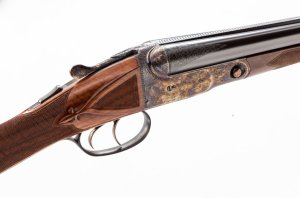 Lot 214: Rare Winchester-Parker Reproduction BHE Grade Limited Edition Two-Barrel Side-by-Side Shotgun