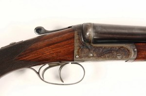 E. J. CHURCHILL CASED SHOTGUN - 12 ga Side by Side Hammerless 'Utility' Model
