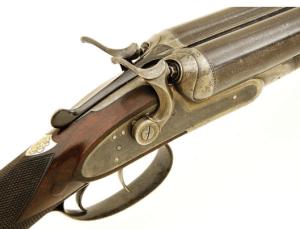 Lot 249: Wonderful 12g William Schaefer Boston Top Lever Double Hammergun: