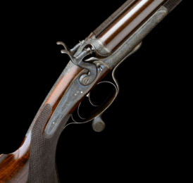 MADE FOR CHARLES GORDON JOHN DICKSON & SON AN EXCEPTIONAL .500 (3IN.) BLACK POWDER EXPRESS ROTARY-UNDERLEVER DOUBLE HAMMER RIFLE, serial no. 3868,