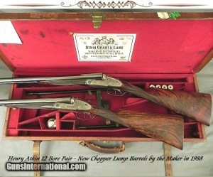 ATKIN 12 SIDELOCK PAIR- NEW CHOPPER LUMP Bbls. in 1988 by the MAKER