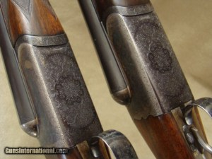 Pre-war Westley Richards 12 ga. pair, 28' barrels