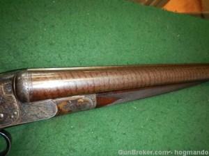 10g W. & C. Scott Excellentia Triple back action sidelock SxS shotgun, circa 1887