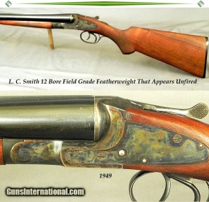 "L. C. SMITH- 12 BORE THAT REMAINS as NEW & APPEARS UNFIRED- 98% ORIG COND- 1949- 28"" Bbls.- 99% ORIG CASE COLORS"