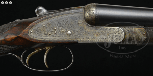 FINE, AS FOUND, WILLIAM EVANS SIDELOCK EJECTOR GAME GUN WITH CASE