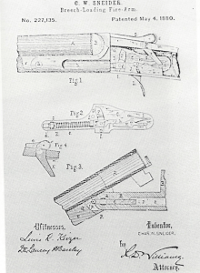 C. W. Snieder patent of 1880 for a hammerless shotgun