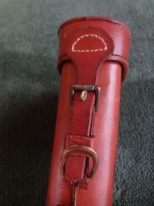 VINTAGE LEG O MUTTON LEATHER GUN CASE. VERY SOLID ANN NICE. BRAUER BROS