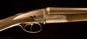 John Dickson of Edinburgh, 12g Round Action SxS shotgun with super rare sidelever