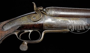 HUMONGOUS HOLLAND & HOLLAND FOUR BORE DOUBLE ELEPHANT RIFLE.
