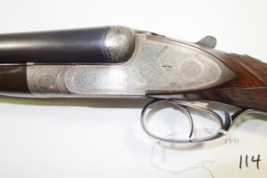 N. Guyot, Paris, 12 gauge, double barrel, SxS, sideplated boxlock shotgun