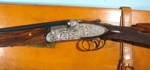 CASED BERETTA S3EL (SO4 or SO-4) 12GA. OVER-UNDER EJECTOR SIDELOCK SHOTGUN CIRCA 1956