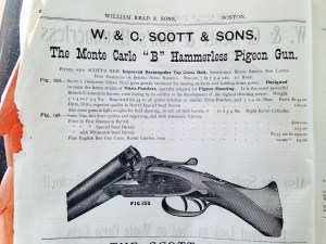 W. & C. Scott Monte Carlo shotguns, from William Read & Sons, Boston, catalog,