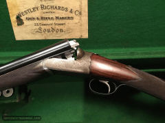 Westley Richards Droplock 1947 12 Gauge SXS Mint Condition in Case