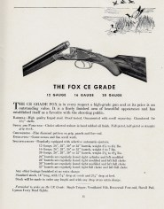 Fox CE Grade, from 1937-39 Savage-era catalog