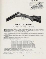Fox CE Grade, from 1937-39 Savage-era catalog