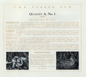 Parker A1 Special, from the Parker Collector's site