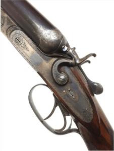 """Rare Francotte Pre-war """"Best Quality"""" 12 gauge SxS hammer gun"""