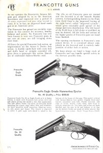 Francotte Shotguns, from 1938 Abercrombie & Fitch catalog