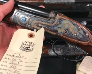 A sweet little Purdey 28g OU Steve Barnett had on display. Only $109,000!