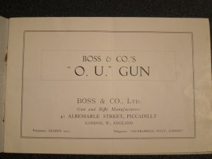 "Super rare Boss & Co ""O.U. Gun"" catalog, 1920s"