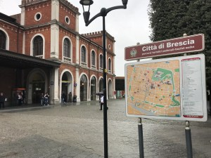 Train station in Brescia, Italy